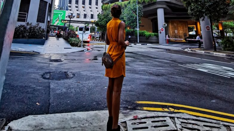 Kasautii Zindagii Kay 2 Actress Erica Fernandes Captures Herself in Singapore but Her Weirdly Long Legs Are Distracting (View Pic)