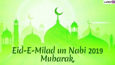 Eid-E-Milad-Un-Nabi Mubarak Wishes in Hindi: WhatsApp Sticker Images, Messages, Facebook Greetings, SMS and GIFs to Share on Mawlid 2019 in  Rabi Al-Awwal Month