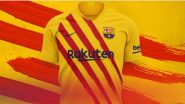 FC Barcelona Unveil New Jersey Inspired by Their Catalan Roots for 2019–20 Season (Watch Video)
