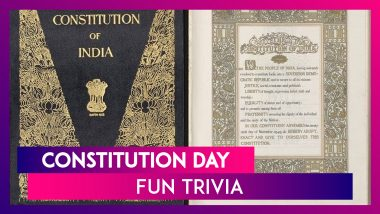 70th Constitution Day: Fun Trivia About The Indian Constitution