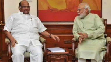 NCP Chief Sharad Pawar Meets PM Narendra Modi, Talks Farmer Crisis in Maharashtra