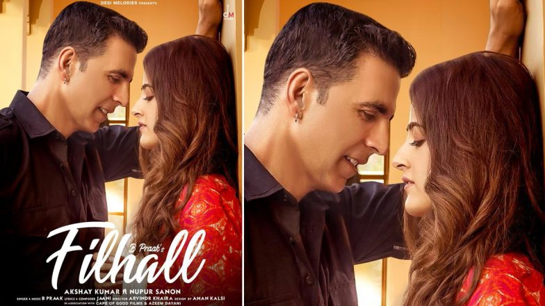 Filhall First Poster! Akshay Kumar and Nupur Sanon Look Giddy in Love Making Us Want More (View Pic)