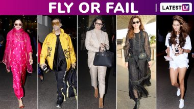 Fly or Fail: Deepika Padukone, Kangana Ranaut, Karan Johar, Disha Patani, Kriti Sanon Make Some Stunning Style Statements!