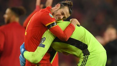 Gareth Bale Takes a Jibe at Real Madrid by Posing With Controversial Flag After Wales Qualify for Euro 2020 (Watch Video)