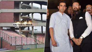 Gautam Gambhir Stand Finally Unveiled at Arun Jaitley Stadium, Former Cricketer Picks-On DDCA President Rajat Sharma for Delay