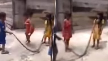 Vietnamese Children Joyfully Play Using a Long Dead Snake As Skipping Rope, Shocking Video Goes Viral