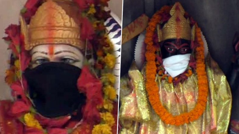 Image result for Bad air makes Goddesses Durga and Kali wear anti-pollution