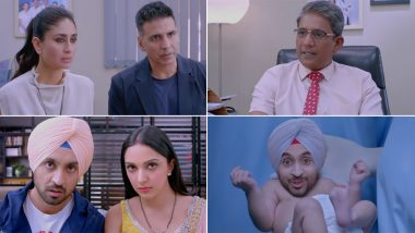 Good Newwz Trailer: Akshay Kumar, Kareena Kapoor Khan, Diljit Dosanjh and Kiara Advani's 'Sperm' Drama Does Not Raise Our Hopes (Watch Video)