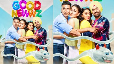 Good Newwz Poster: Akshay Kumar, Kareena Kapoor Khan, Diljit Dosanjh, Kiara Advani Are Surrounded by a Devilish Sperm (View Pic)