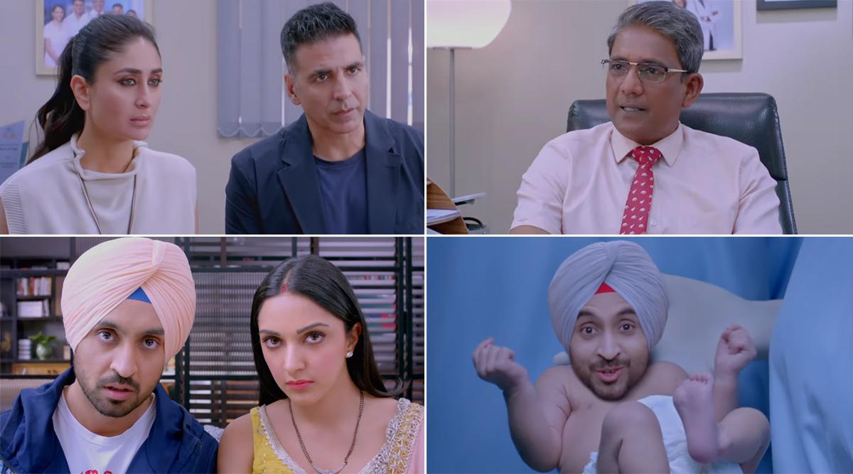 Good Newwz Trailer: Akshay Kumar, Kareena Kapoor Khan, Diljit Dosanjh and Kiara Advani's 'Sperm' Drama Does Not Raise Our Hopes (Watch Video)