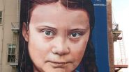 Climate Activist Greta Thunberg Gets a Four-Storey-High Mural in San Francisco (Watch Video)