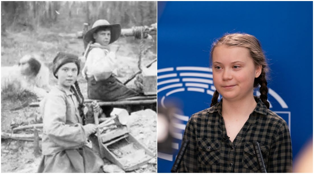Greta Thunberg is a Time Traveller, Say Netizens, After a 120-Year-Old Picture of Climate Activist's Lookalike Goes Viral (Check Tweets)