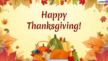 Happy Thanksgiving Day 2019 Messages: WhatsApp Stickers, Facebook Greetings, GIF Images, SMS, Quotes to Wish on US National Holiday