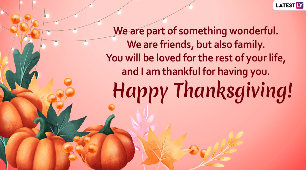 Happy Thanksgiving Day 2019 Messages: WhatsApp Stickers, Facebook  Greetings, GIF Images, SMS, Quotes to Wish on US National Holiday | ߙϰߏ  LatestLY
