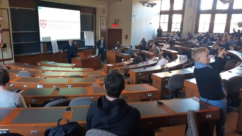 Harvard Law School Students Boycott Israeli Ambassador Dani Dayan's Address to Express Solidarity With Palestine; Watch Video