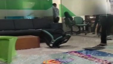 Shiv Sena Workers Ransack IFFCO Tokio Insurance Company Office in Pune For Rejecting Farmers' Claims; Watch Video