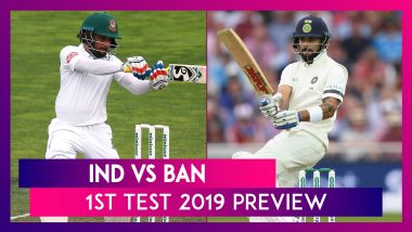 IND vs BAN 1st Test 2019 Preview: India Hope to Maintain Winning Momentum, Bangladesh Eye Maiden Win