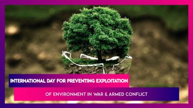 International Day For Preventing Exploitation Of Environment In War & Armed Conflict 2019