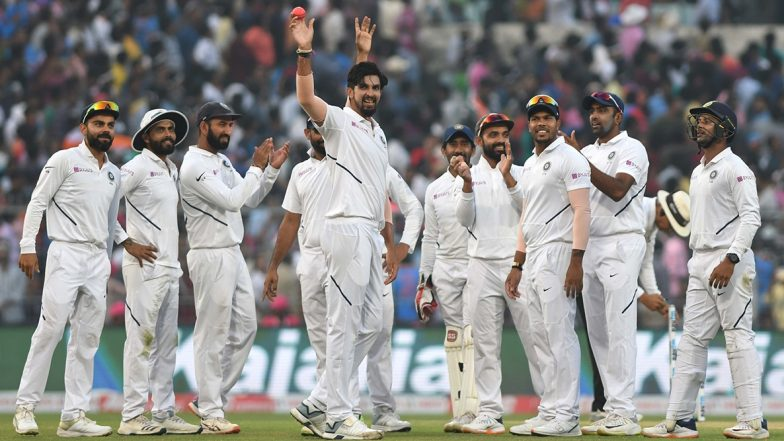 Live Cricket Streaming of IND vs BAN Day-Night Test Match 2019 on DD Sports, Gazi TV, Hotstar and Star Sports: Check Live Cricket Score Online, Watch Free Telecast of India vs Bangladesh Pink Ball Test Day 2 on TV