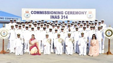 Indian Navy Commissions  6th Dornier Aircraft Squadron During Ceremony Held at Porbandar
