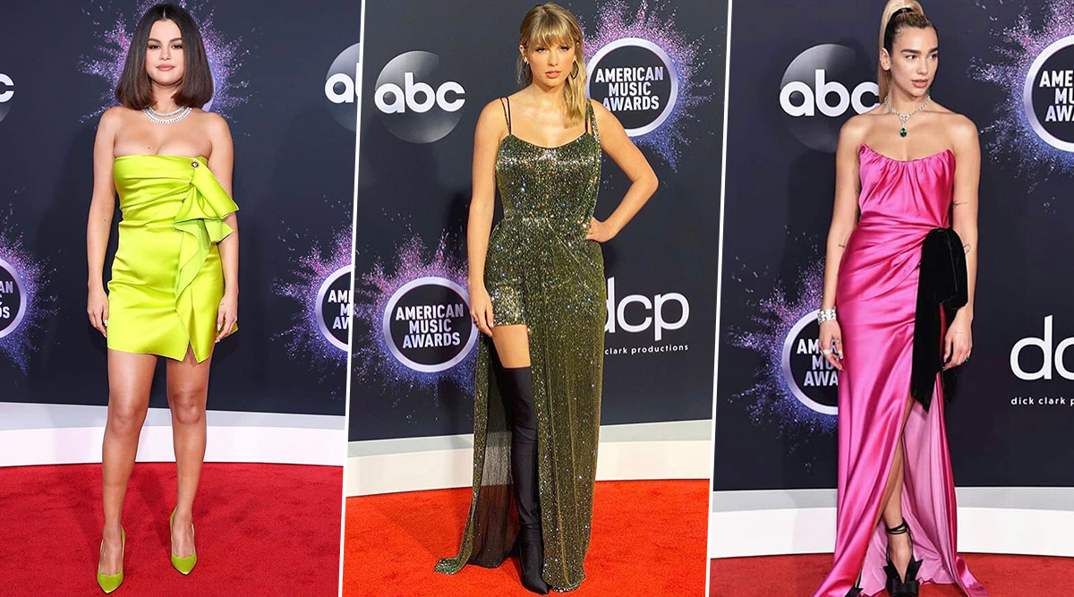 American Music Awards 2019 Red Carpet: Selena Gomez, Dua Lipa, Taylor Swift and Others Slay in Their Stunning Avatars(See Pics)
