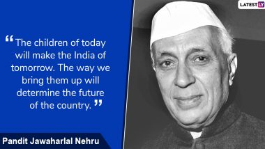 Children's Day in India 2019 Wishes With Pandit Nehru Images: WhatsApp Stickers, SMS, Greetings, GIFs and Messages to Share on Bal Diwas