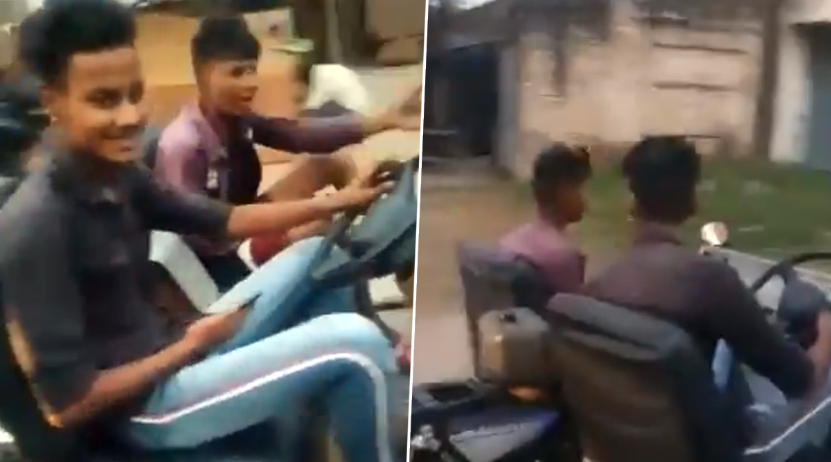 Man Modifies Bike Into a Car in Ludhiana! Video of This Jugaad is Going Viral on The Internet