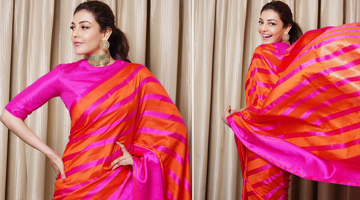 Kajal Aggarwal in Raw Mango for Comali Success Party (1)