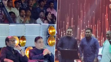Kamal Haasan Completes 60 Years In Films: Rajinikanth, AR Rahman, Ilayaraja, Karthi and Others Attend Musical Event 'Ungal Naan' Dedicated to Him (View Pics)