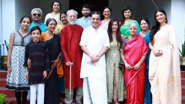 Kamal Haasan Celebrates 65th Birthday with Family in Paramakudi (View Pics)