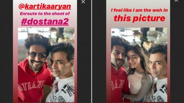 Karan Johar's Insta Story Fuels Speculation About Kartik Aaryan-Ananya Panday's Relationship Status (View Pics)