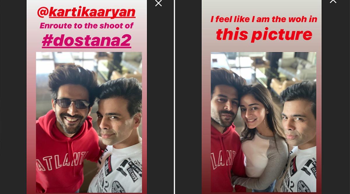 Karan Johar's Insta Story Fuels Speculation About Kartik Aaryan-Ananya Panday's Relationship Status (View Pics)