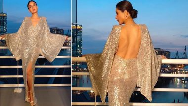 Yo or Hell No? Kareena Kapoor Khan in a Shimmery Michael Costello's Backless Dress!