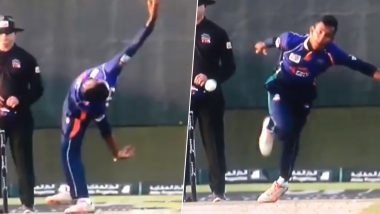 Kevin Koththigoda, Sri Lanka 'Mystery' Spinner's Unorthodox Bowling-Action Lights Up Abu Dhabi T10 League 2019 (Watch Video)