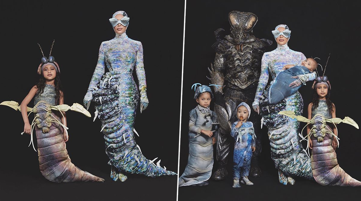 Kardashians Turn 'West Worms' for Halloween 2019! Kim Shares Pictures of Whole Family Dressed Up as Creepy Yet Glamorous Insects