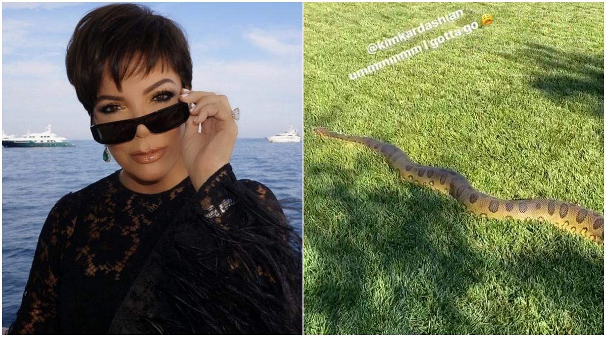 Anaconda in Kim Kardashian's Backyard! Kris Jenner Shares Video of The Massive Snake From Her Daughter's LA House
