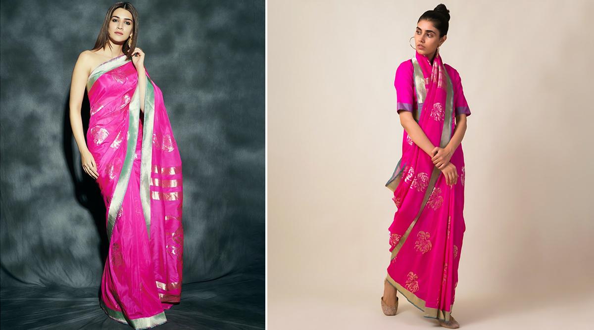 Kriti Sanon in Ekaya Banaras saree for Panipat promotions (1)