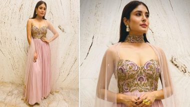 Wedding Fashion 2019–20: Kritika Kamra Is the Perfect Banno Ki Saheli in a Liliac Cape Gown!
