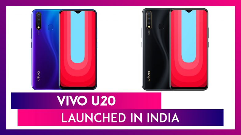 Vivo U20 With 5000mAh Battery Launched in India At Rs 10,990; Check Prices, Features, Colours, Variants & Specifications
