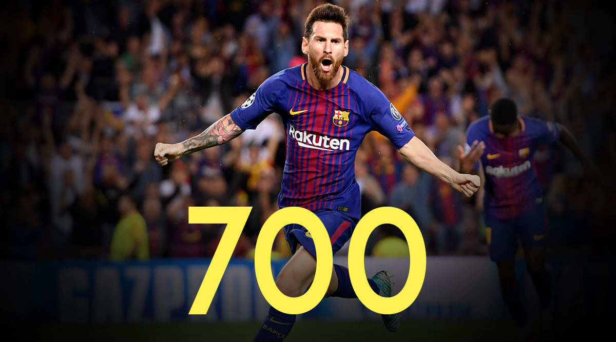 UEFA Champions League 2019-20: Lionel Messi Toasts 700 Games With a Goal as Barcelona Make Last 16