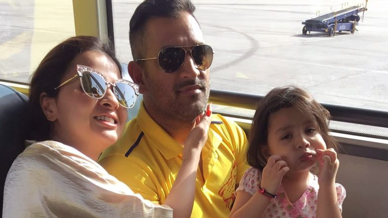 Sakshi Dhoni 31st Birthday: CSK Wish The Gorgeous WAG With a Lovely Family Photo of Husband MS Dhoni and Daughter Ziva