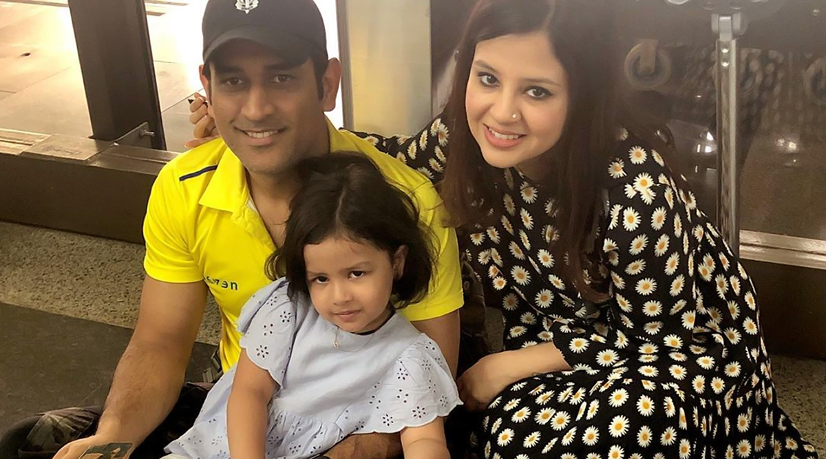 Sakshi Dhoni Birthday Special: Family Photos of Sakshi With Husband MS Dhoni and Daughter Ziva Are So Adorable