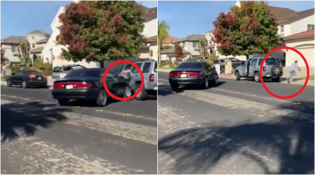 Driver Rams Car Into Man Leaving Him Limping After Heated Argument in Antioch, Video Goes Viral