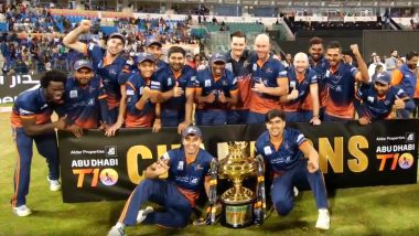 Maratha Arabians Clinch Abu Dhabi T10 League 2019 Trophy After Beating Deccan Gladiators in Final by 8 Wickets