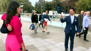 Ricky Ponting Urged by Fan to Click Latter's Photo With Australian Sports Presenter Melanie McLaughlin