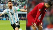 Lionel Messi Fans Troll Cristiano Ronaldo Brutally For Stat Padding Against 'Smaller' Teams After Barcelona Star Shines in Argentina vs Uruguay Friendly Match