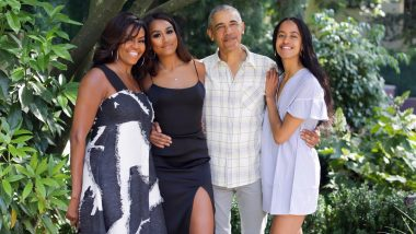Thanksgiving Wishes From The Obamas! Michelle Obama Shares a Beautiful Family Pic With Barack Obama And Daughters Malia-Sasha