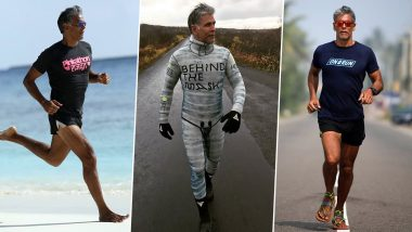 Milind Soman Workout & Diet: Fitness Secrets of Ironman of India That Keeps Him Ultra Healthy Even in His Fifties (Watch Videos)