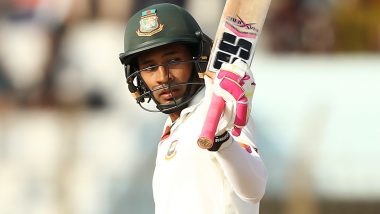 IND vs BAN, 1st Test 2019: Mushfiqur Rahim Fighting Fifty Delays the Inevitable, India Four Wickets Away From Victory