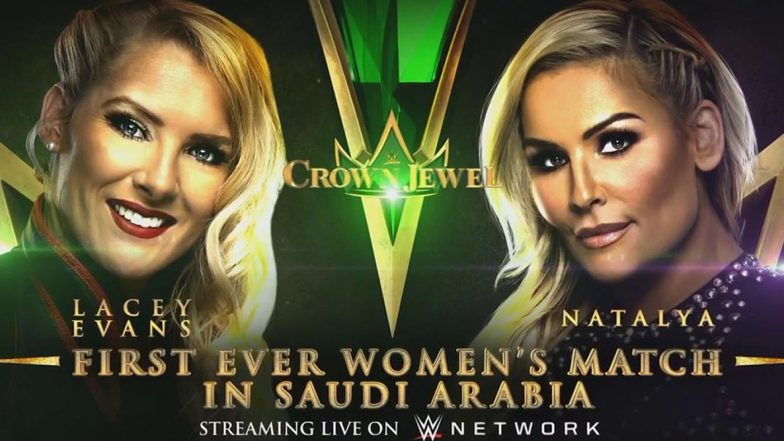 WWE Crown Jewel 2019: Natalya Beat Lacey Evans to Win First Ever Women Wrestling Match in Saudi Arabia